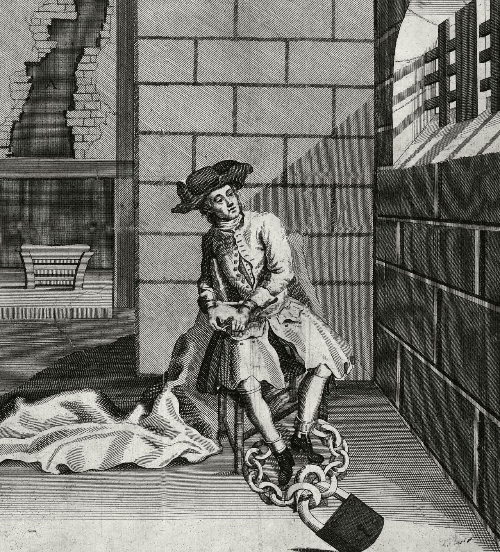Prisoner in an 18th century jail