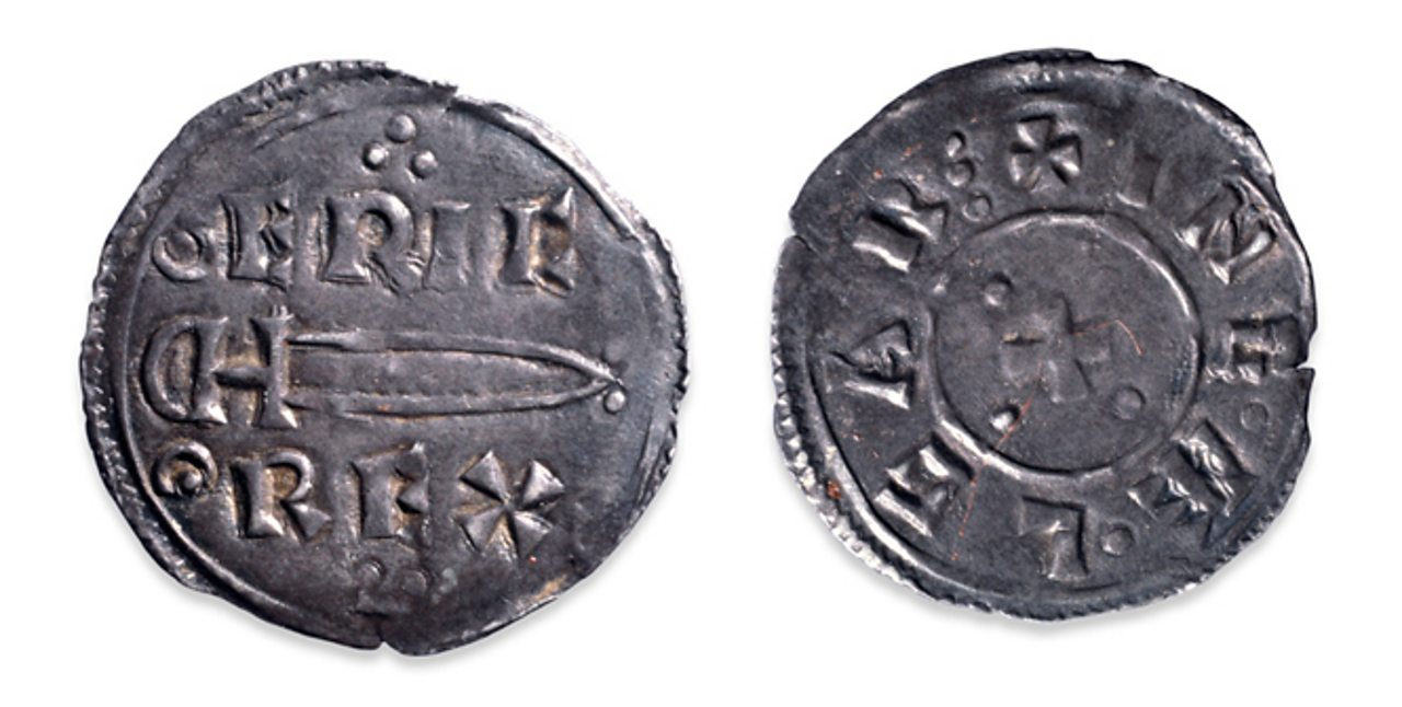 A silver penny of Eric the Bloodaxe.