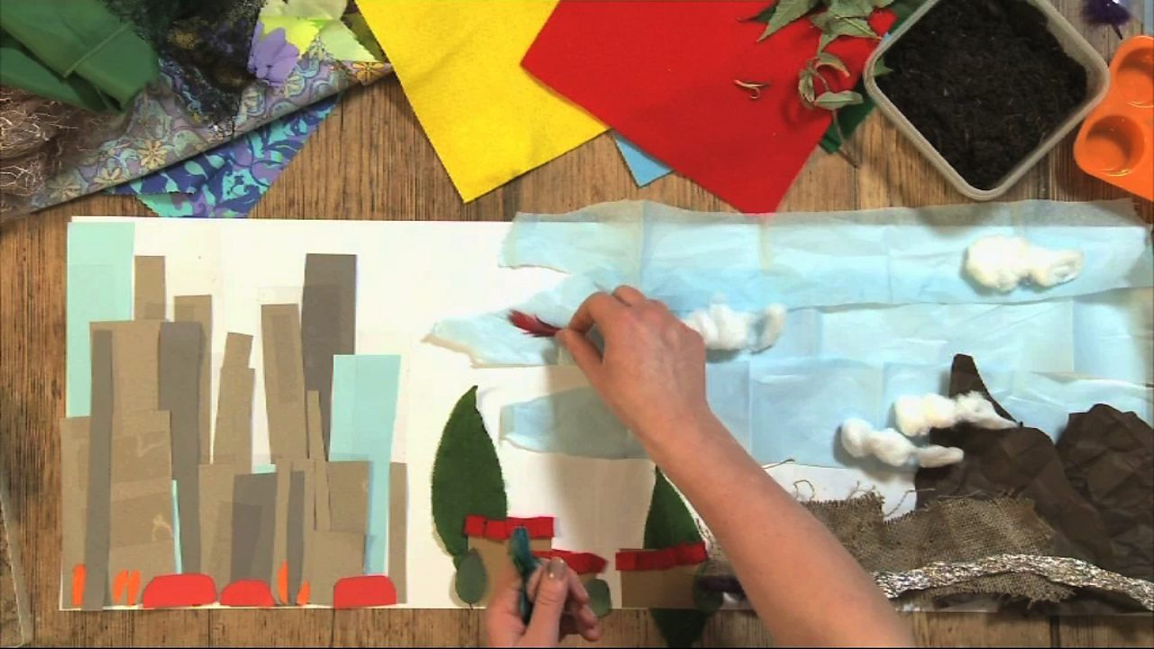 Art and Design KS1 / KS2: Creating a collage landscape