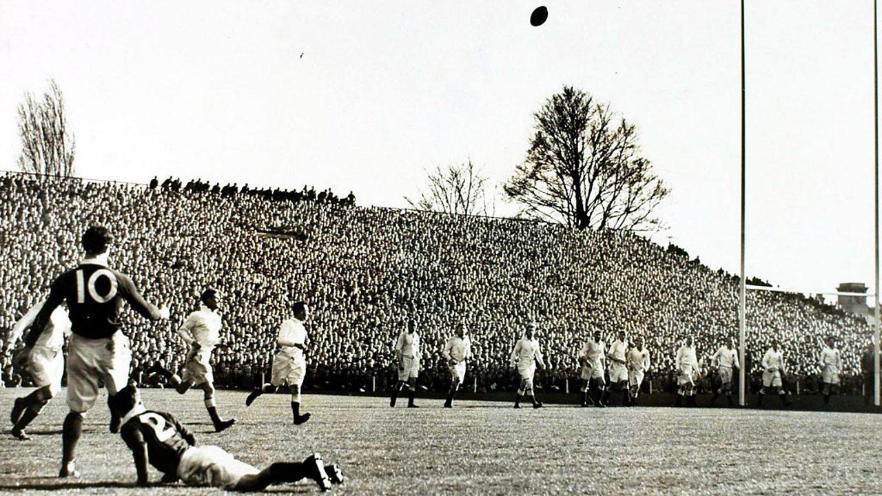 Scotland vs England at Twickenham in March 1938.