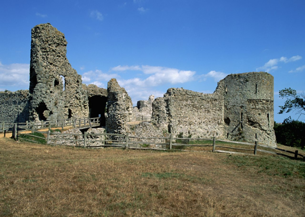 Photo of Pevensey Castle today