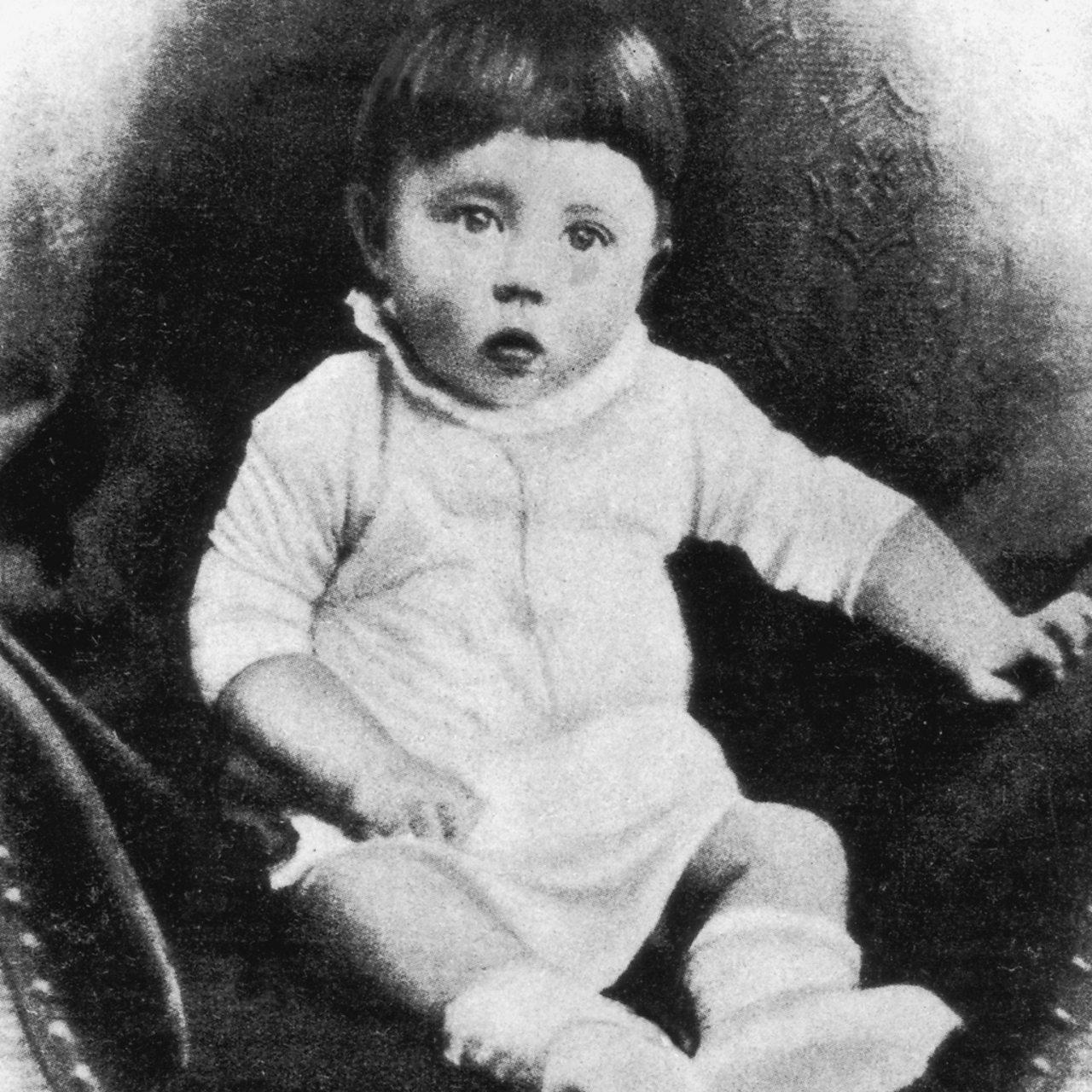 Adolf Hitler, pictured as a child circa 1889.