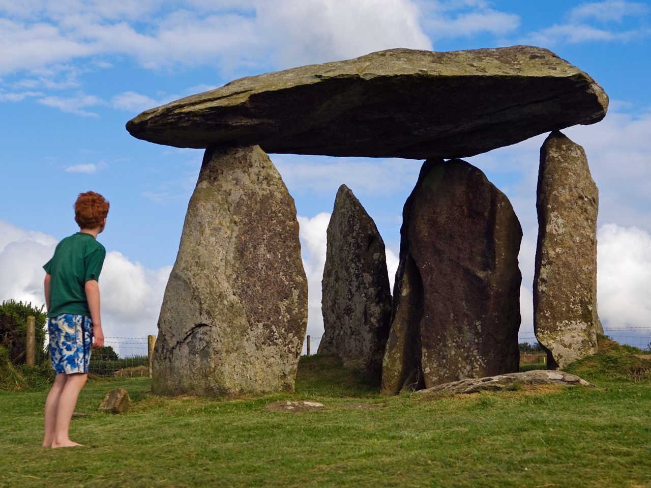 The ancient neolithic dolmen at Pentre Ifan in Wales is a vast Celtic burial mound