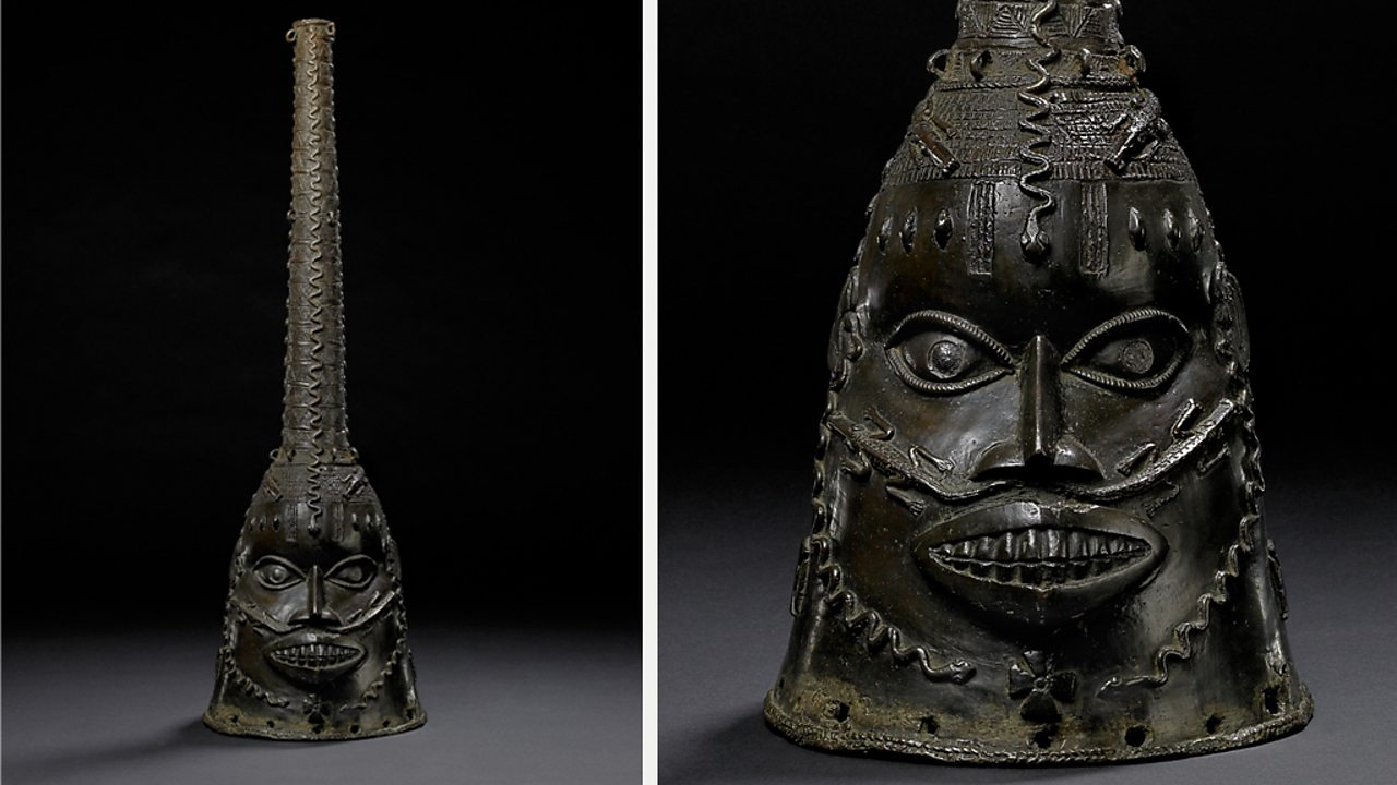 A brass mask that represents Ora