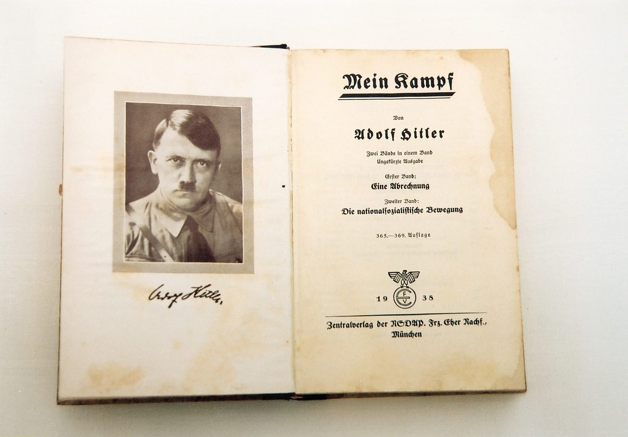 The 1938 edition of Hitler's Mein Kampf.