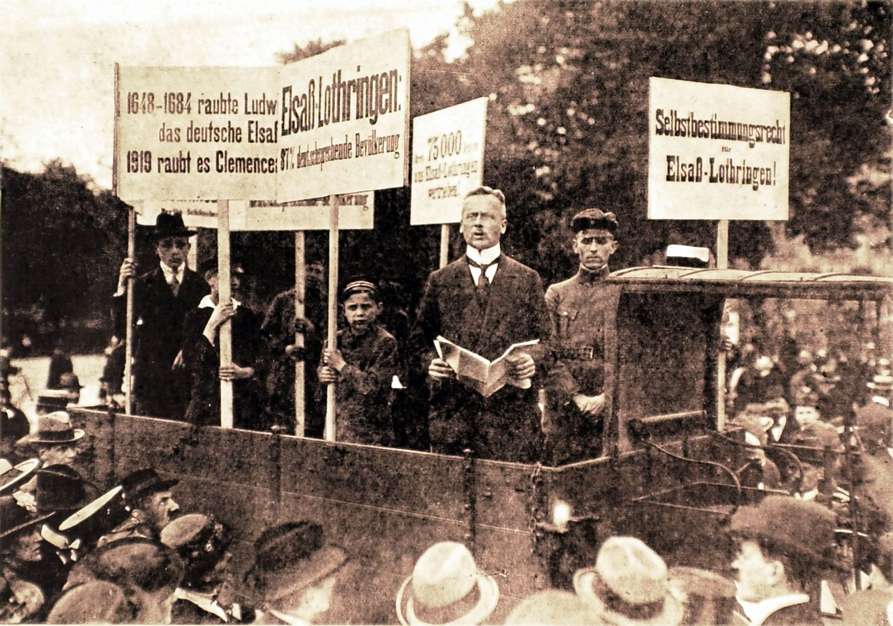 Protests in Germany against the Treaty of Versailles.