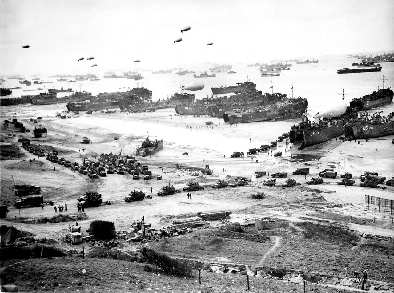 Landing of the Allied troops in Normandy.