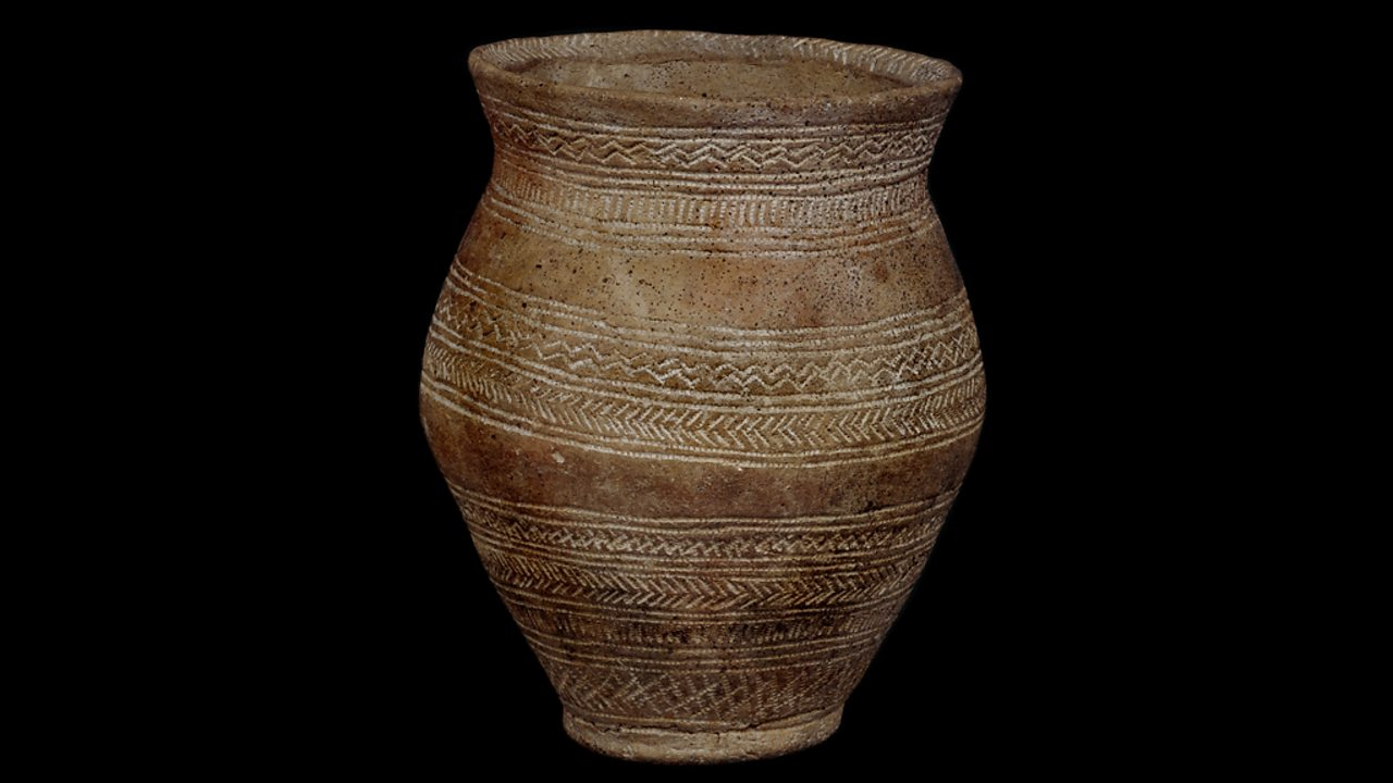 A clay beaker from Rudston in Yorkshire
