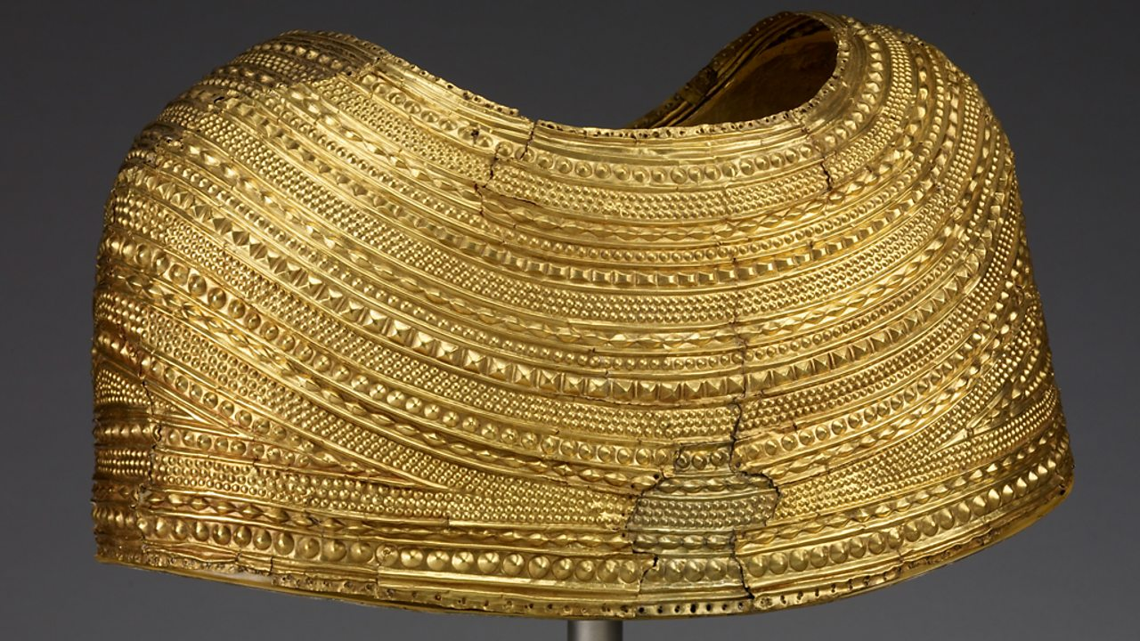 A gold cape found in Mold, North Wales