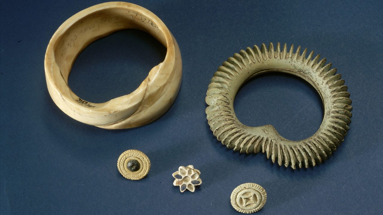 Bangles and ear studs from the Indus Valley