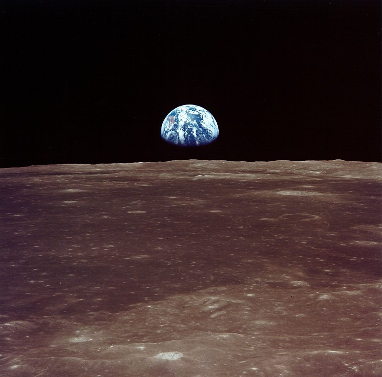 Photograph of the Earth from the Moon.