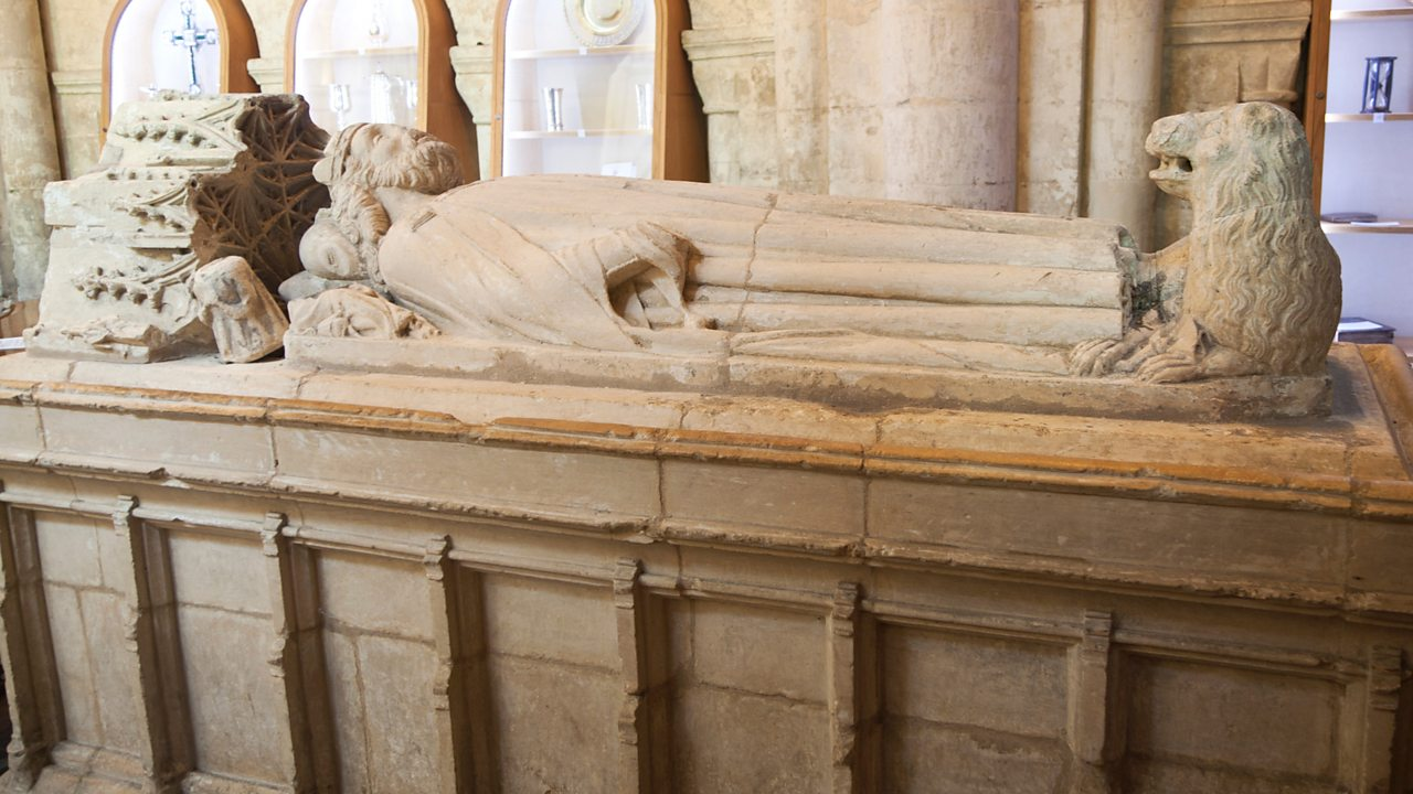 Memorial tomb for Athelstan in Malmesbury Abbey, Wiltshire