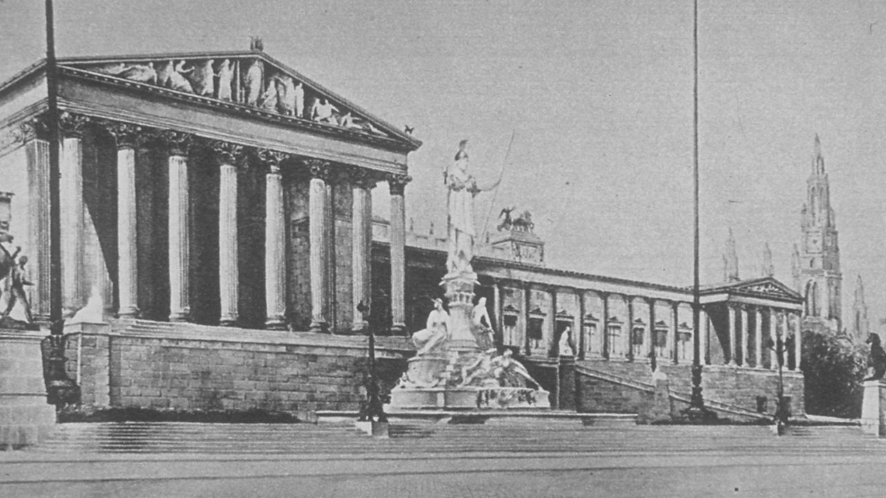 Adolf Hitler's drawing of the Austrian Parliament Building, Vienna.