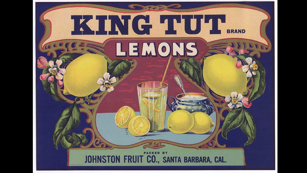 Poster advertising King Tut lemons.