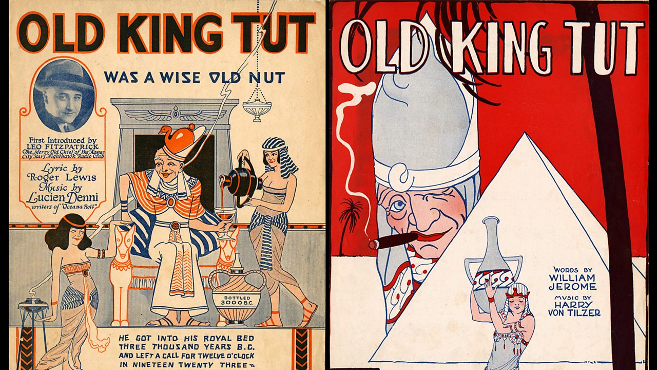 Posters from the U.S about King Tut.