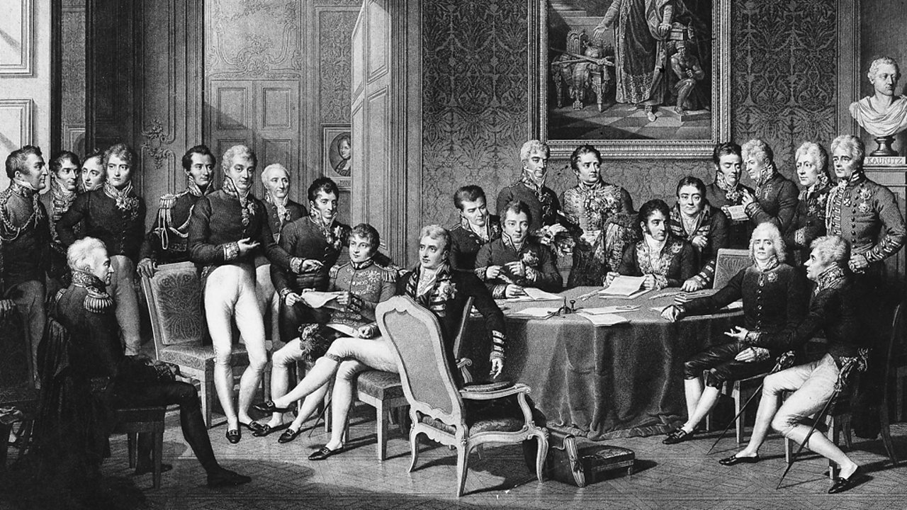 World leaders descended on the Congress of Vienna to re-draw Europe's borders. Wellington represented Britain.