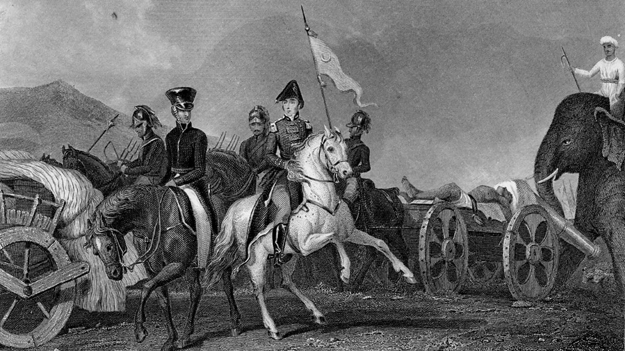 Wellington defeats Indian leader Dhoondiah Waugh at the Battle of Conaghull in India.