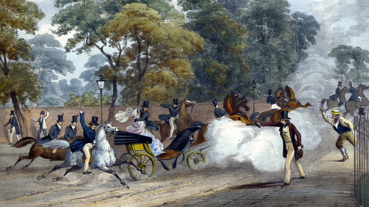A lithograph depicting the first assassination attempt on Victoria.