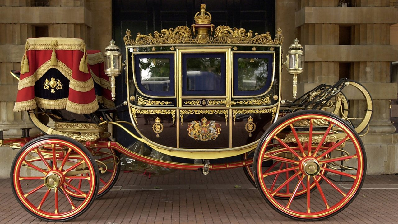 The Irish State Coach that has been used for the State Opening of Parliament since 1852.