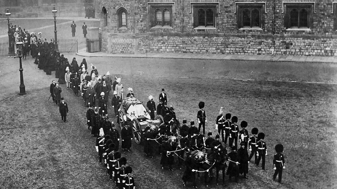 Victoria's funeral procession leaving Windsor Castle.