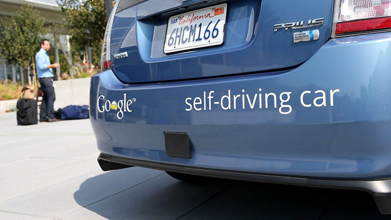A driverless car developed by Google.