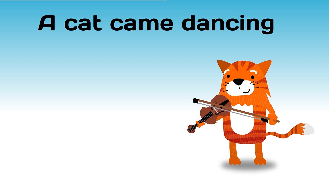 A cat came dancing