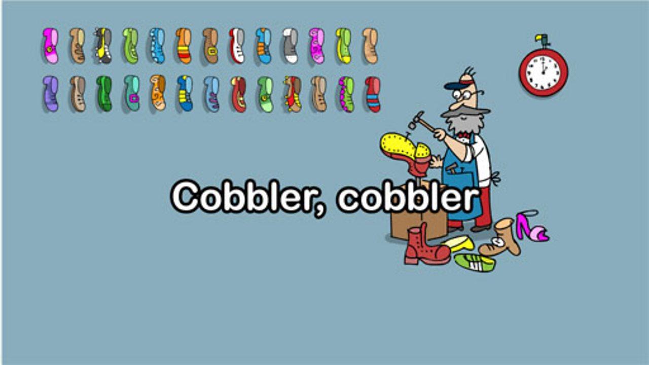 Cobbler, cobbler mend my shoe
