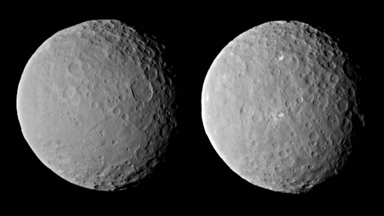 Images of the asteroid Ceres.