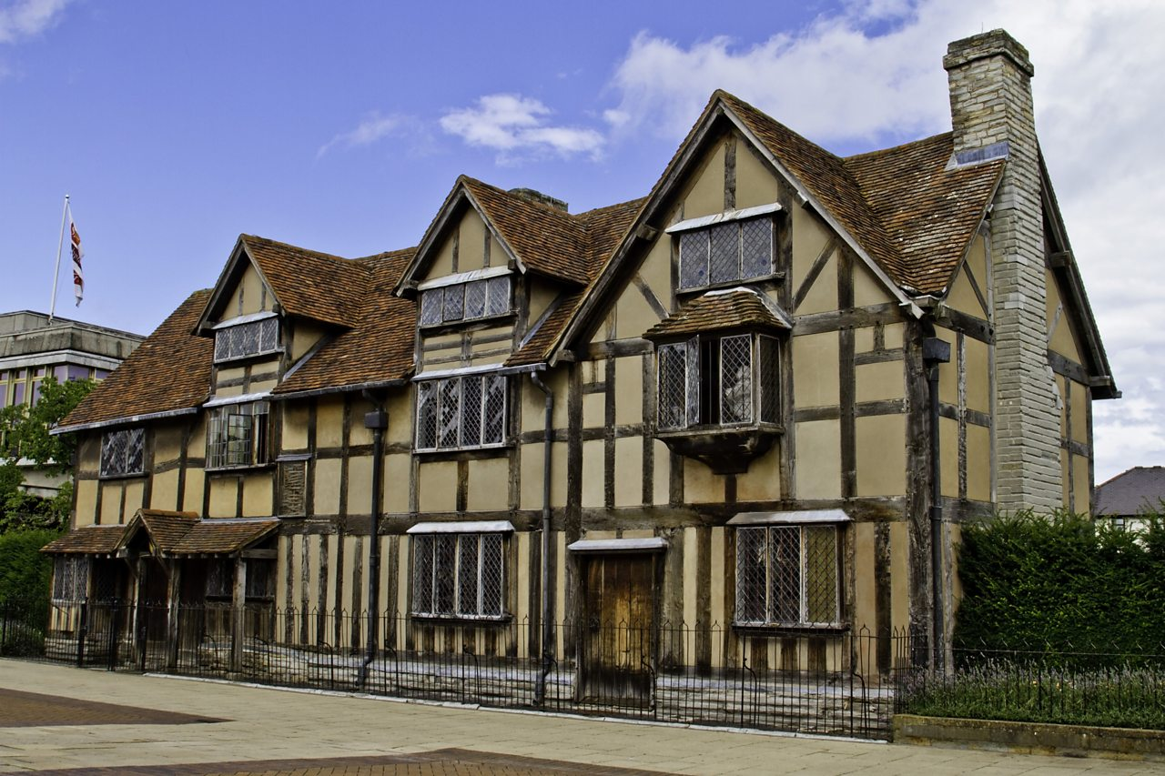 A house on Henley Street, Stratford, believed to be Shakespeare's birthplace.