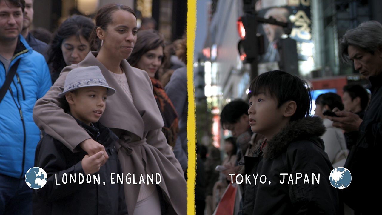 Geography KS1 / KS2: Two children's lives in bustling capitals London and Tokyo