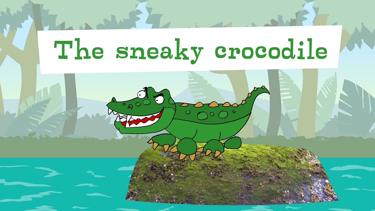 Look at the sneaky crocodile