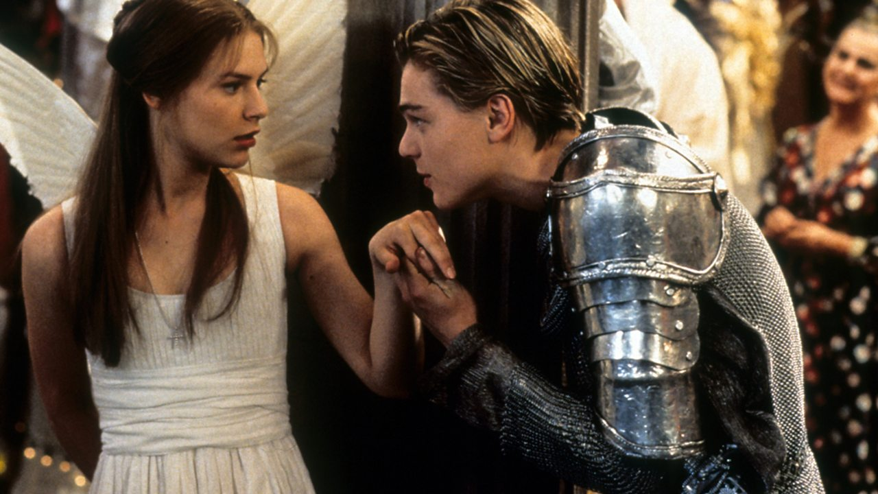 Clare Danes and Leonardo di Caprio in Baz Luhrmann's 1996 film adaptation Romeo & Juliet