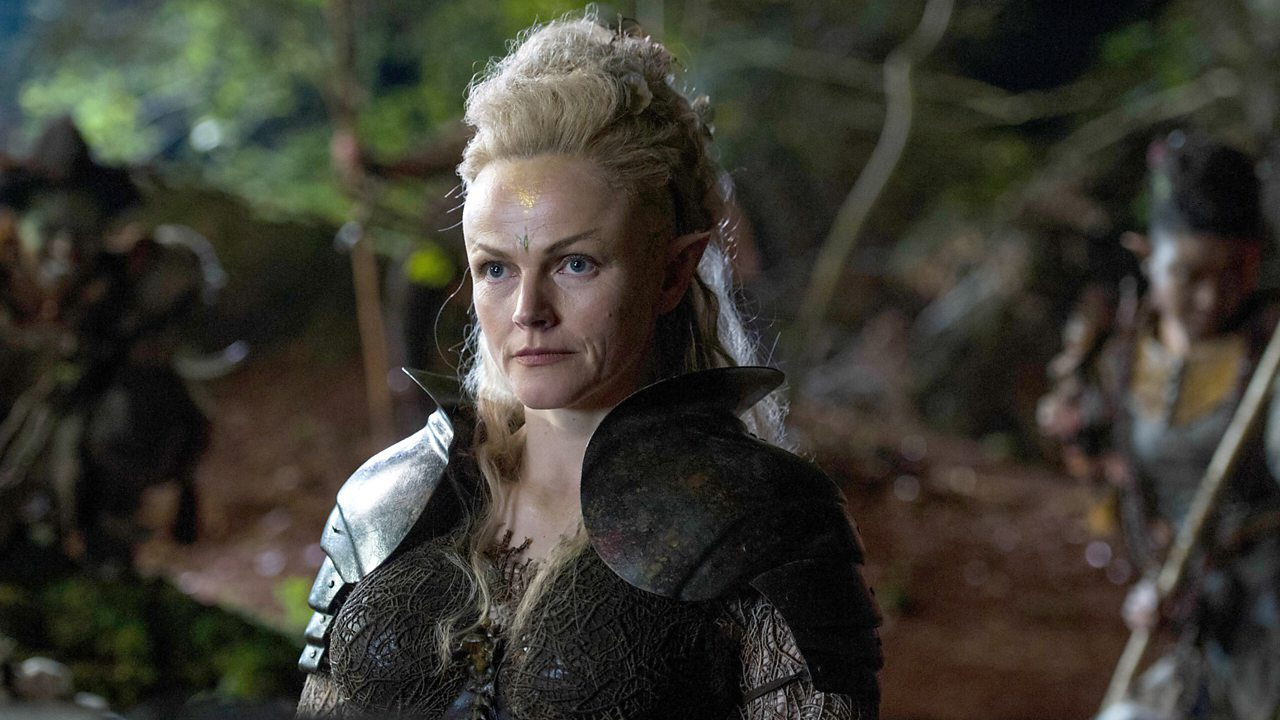 Queen Titania in a BBC adaptation of A Midsummer Night's Dream