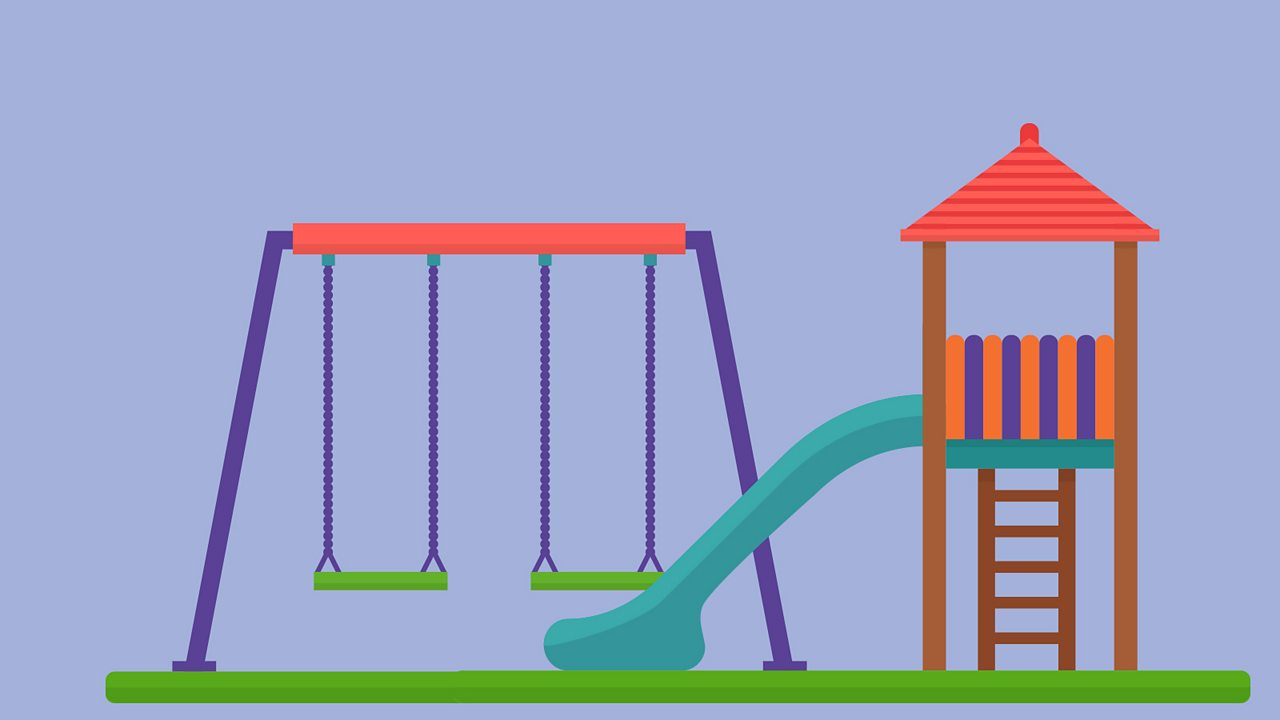 Swings, slides and playground rides