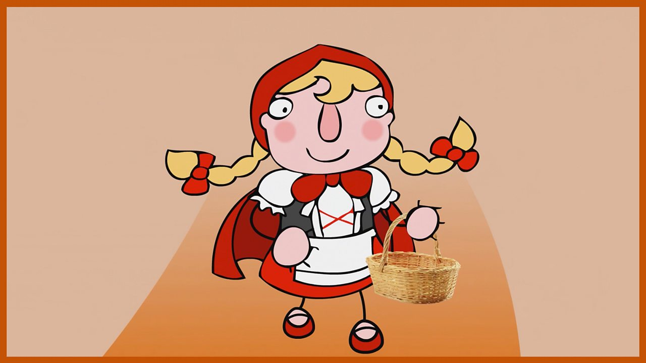 Little Red Riding Hood. She bakes a cake to take to her Grandma's cottage in the Woods.