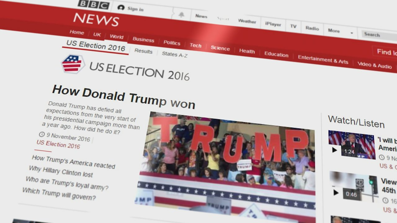 How to present the news online