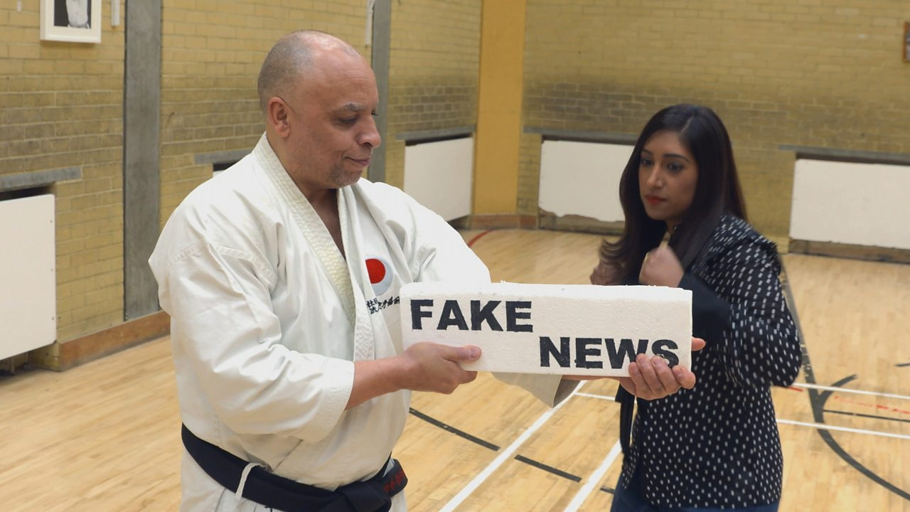 How fake news is presented
