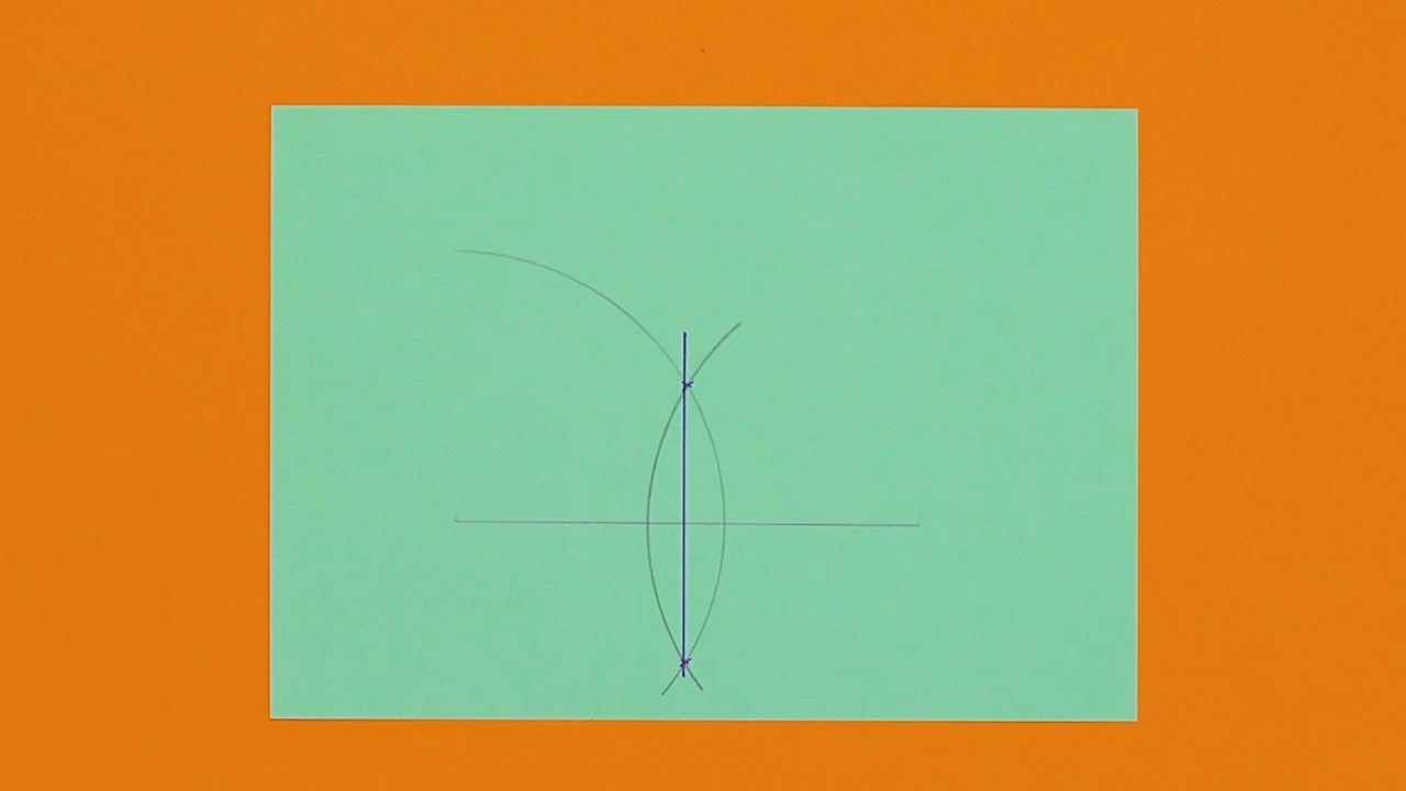 An image showing a bisected line