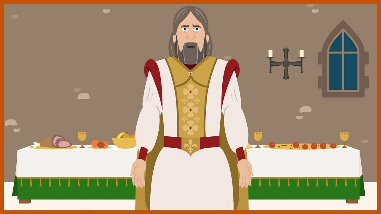 Arthur stood in front of a large banquet table.