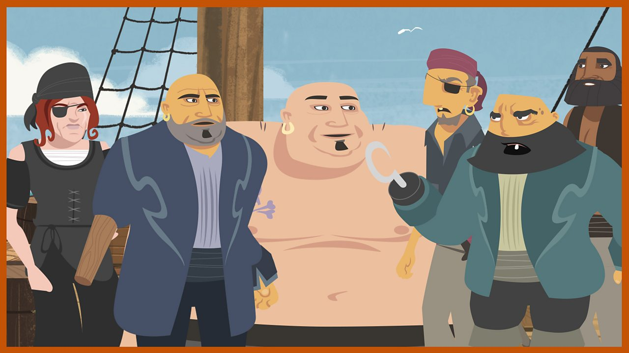 The pirate crew: A motley crew from every conceivable background and united only by a love of treasure.