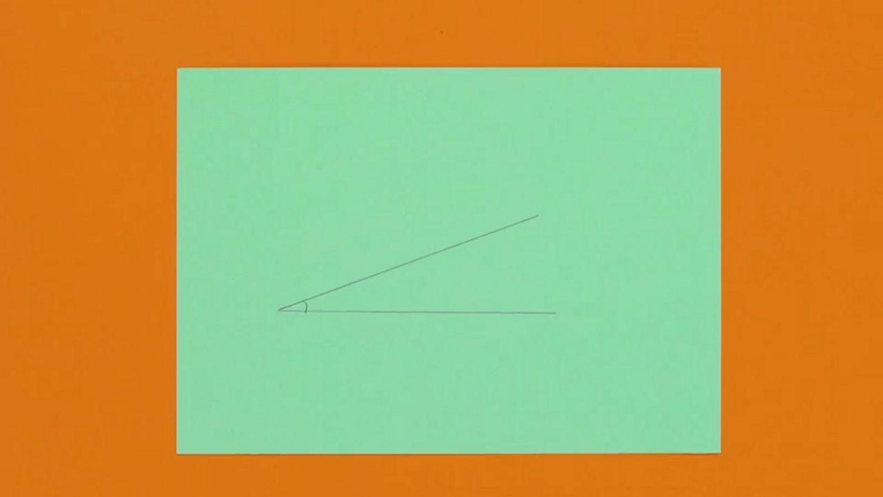 An image of an acute angle