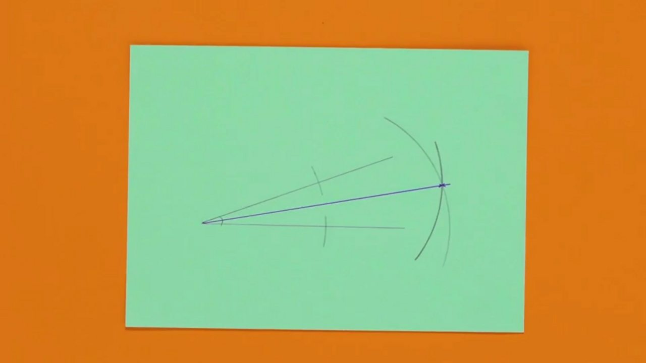 An image showing the bisected angle