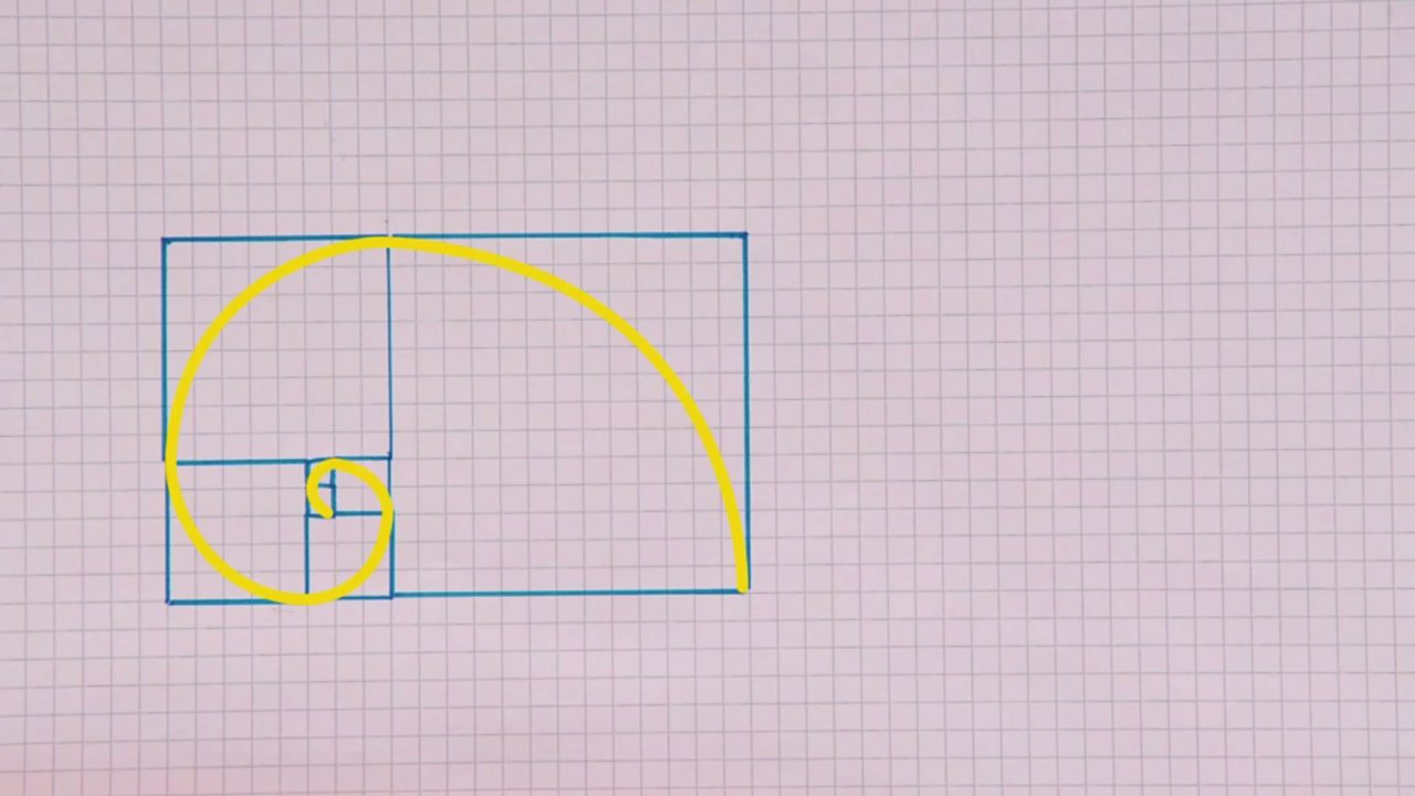 A finished version of a golden spiral