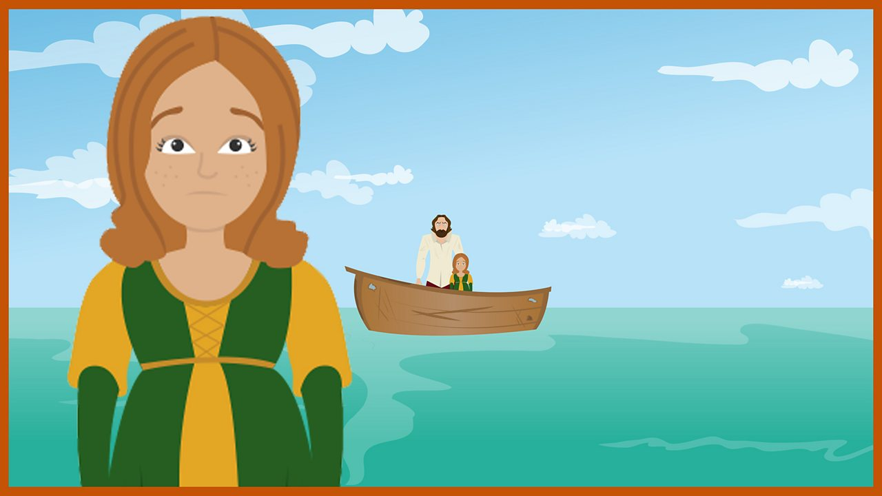 Young Miranda: Miranda is just a baby when she is set afloat with her father, Prospero, and left to die.