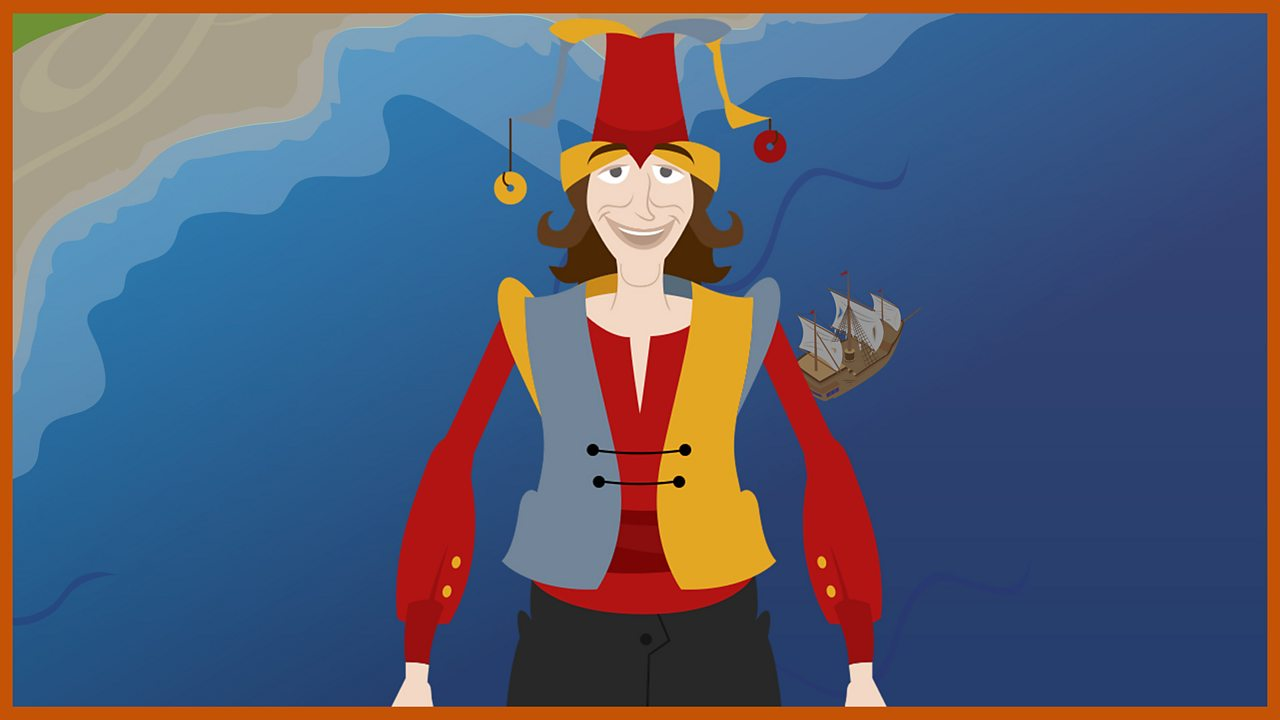 Trinculo: A jester who washes ashore with Stephano, meets Caliban and plots against Prospero.