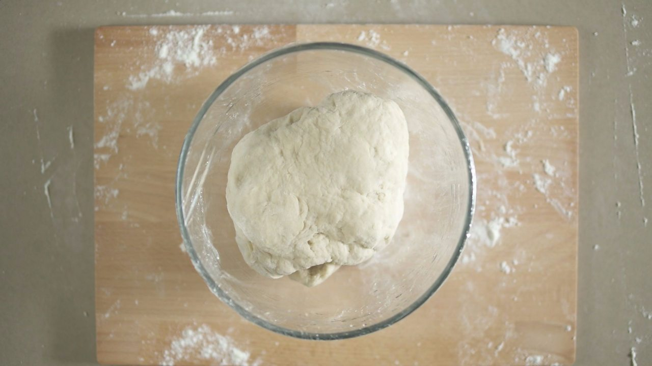 An image of the dough in the mixing bowl