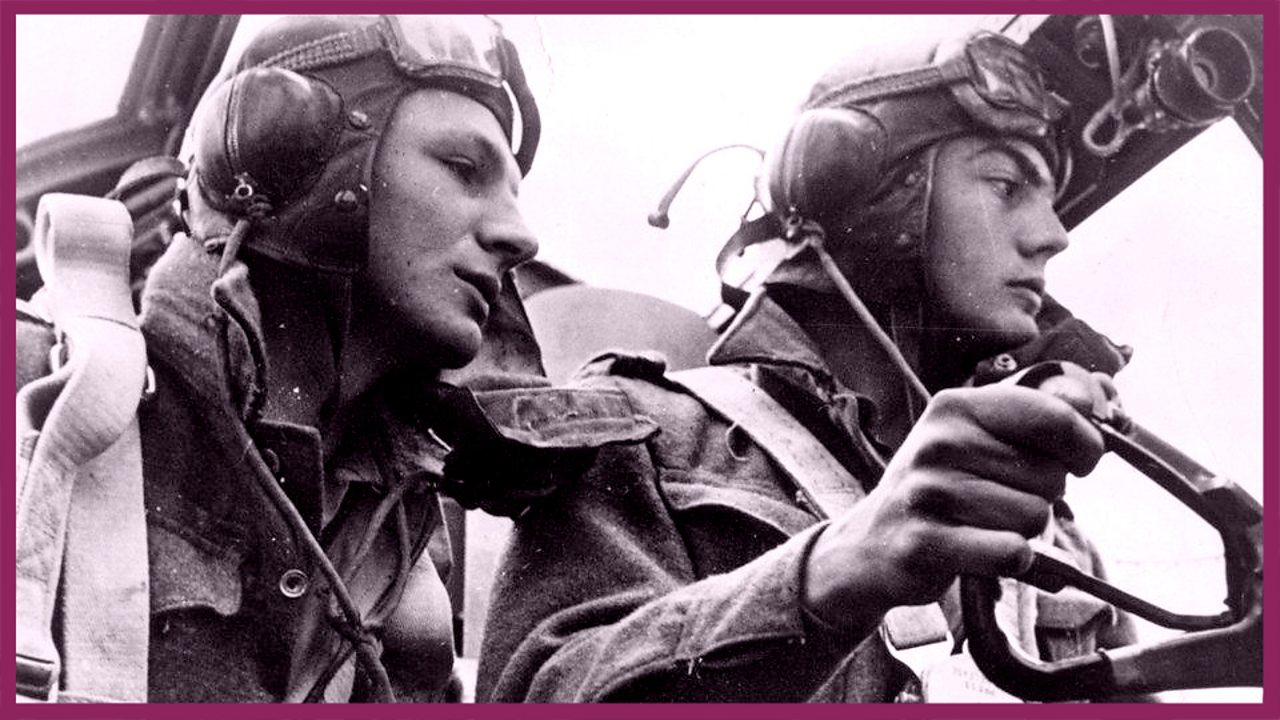 Lancaster crew during a raid