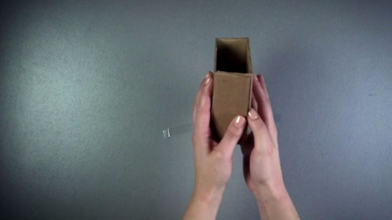 Folded up cardboard box