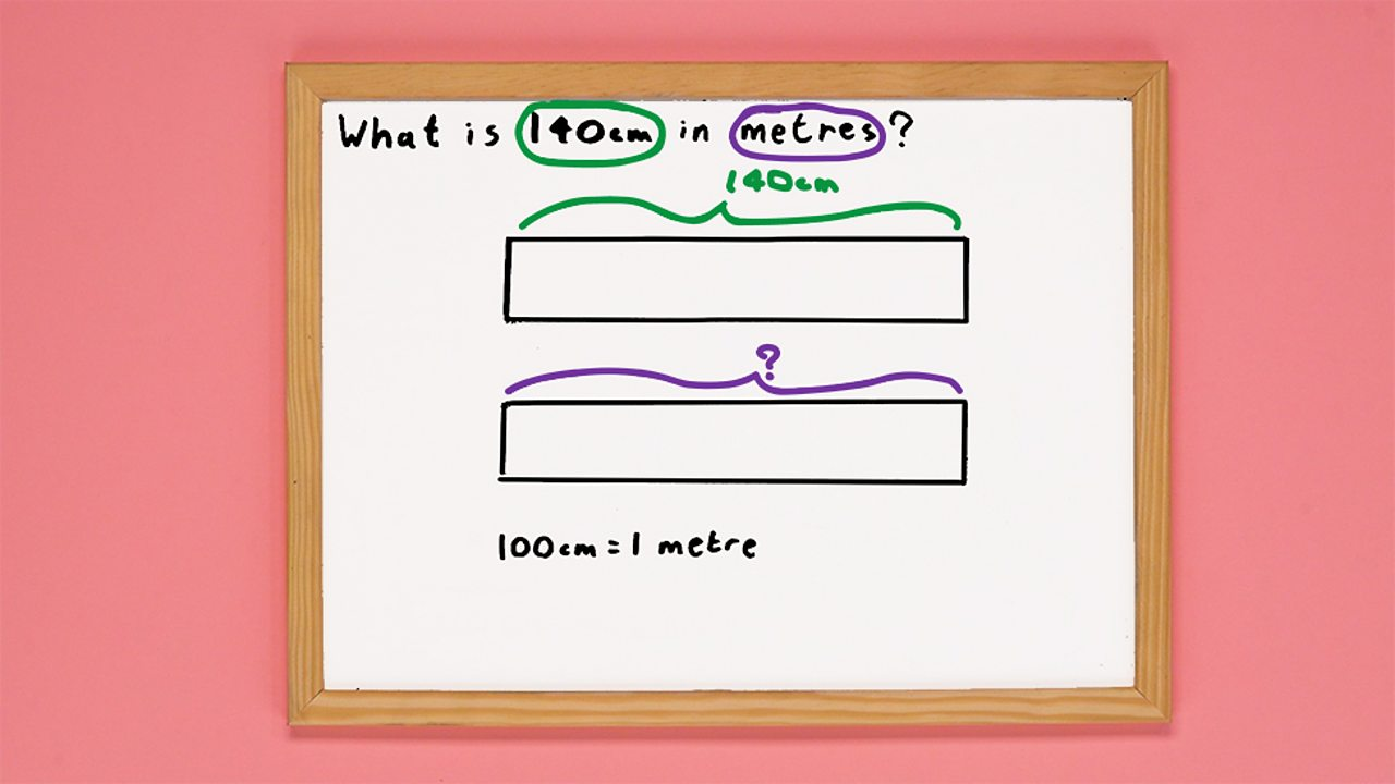 Whiteboard outlining problem and two bar models