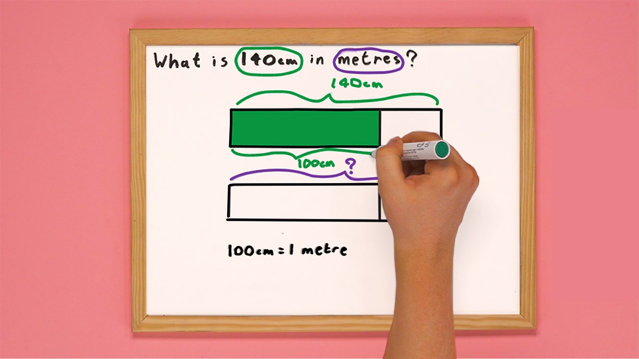 Whiteboard with two shaded bar models